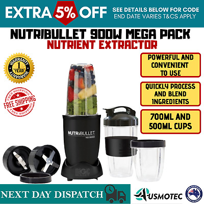 AU144.85 • Buy Nutribullet 900W Nutrition Extractor Vegetable Smoothie Maker Mix Juicer Blender