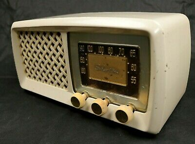 $ CDN101.46 • Buy Vintage Sears Roebuck Silvertone Tube Radio Mid Century 50s Table Radio