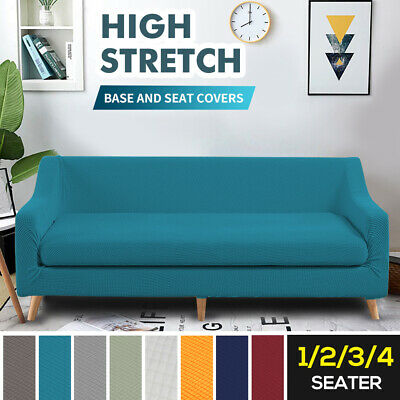 AU29.99 • Buy 2-Piece Couch Sofa 1-4 Seat Base Covers Stretch Protectors SlipcoversSeat