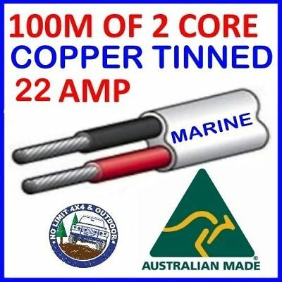 AU160 • Buy 100m Of 2 Core 4mm Wire Marine Tinned Copper Trailer Cable Boat 12v Twin Metres