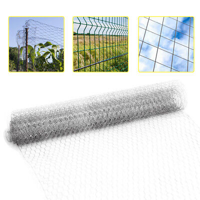 Fence Galvanised /Welded Mesh Aviary Fencing Chicken Wire Garden Privacy Barrier • 10.95£