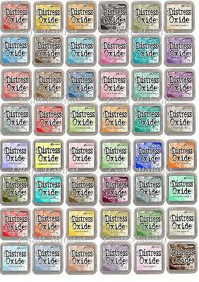 Ranger Distress Oxide Ink Pads By Tim Holtz 3 X 3  - CHOICE Of Colours FREE P&P • 5.95£