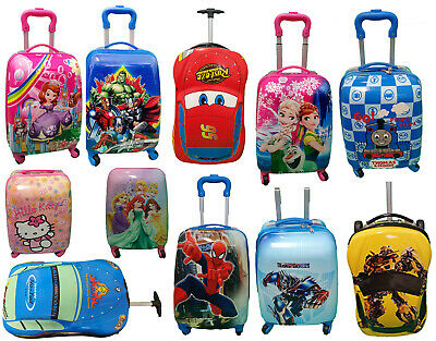 £42.99 • Buy Children Kids Holiday Travel Hard Shell Suitcase Cabin Hand Luggage Trolley Bags