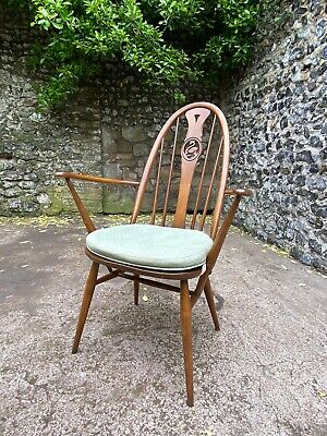 Pair Of Ercol Windsor Swan Armchairs In Golden Dawn With Original Cushioning • 249.99£
