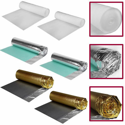 Wood Laminate Floor Flooring Underlay Foam Strong White Silver Gold 2 3 5 Mm • 48.95£