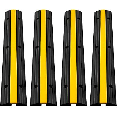 £37.59 • Buy VEVOR 4 Pack Of Rubber Cable Protectors 1-Channel Cable Hose Protector Ramp