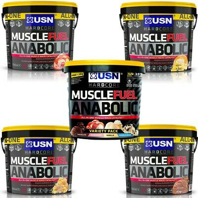 USN Muscle Fuel Anabolic All In One Lean Muscle Gainer Protein Shake Powder 4kg • 45.89£