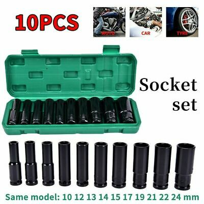 Deep Impact Socket Set 1/2  Drive Long Reach Thin Wall 10 Metric Sockets 10-24mm • 14.99£
