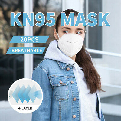 AU99.99 • Buy N95 KN95 Mask Face Masks Reusable Disposable Anti Dust Respirator Filter X20