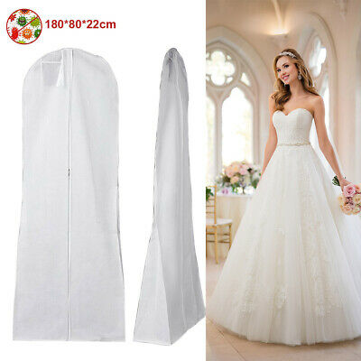 Extra Large Wedding Dress Bridal Gown Garment Bag Breathable Storage Cover White • 6.64£
