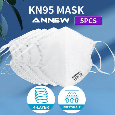 AU11.99 • Buy N95 KN95 Mask Disposable Masks Reusable Face Filter Anti Dust Respirator 5pcs