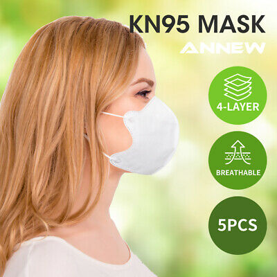 AU34.99 • Buy N95 KN95 Mask Face Masks Reusable Disposable Anti Dust Respirator Filter X5