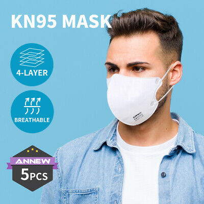 AU11.99 • Buy N95 KN95 Mask Filter Face Masks Reusable Respirator Disposable Anti Dust X5
