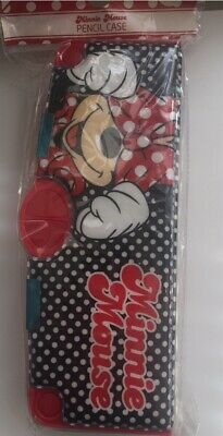 £4.49 • Buy Disney Red Minnie Mouse Polka Dot Pop Out Pencil Case New