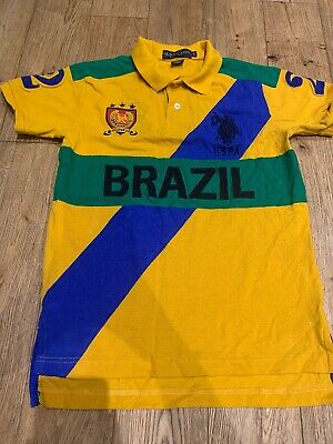 New!! U.S. Polo!! Mens Brazil Polo Shirt, Slim Fit, No.2, Size S, Unwanted Gift, • 12£