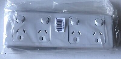 AU39 • Buy Clipsal 2025H2 Combo Double GPO. 4 Outlet Powerpoint