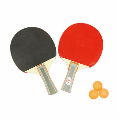 AU20 • Buy 2 Players Table Tennis Set 2 Rackets Bats With 3 Ping Pong Balls Home Sports