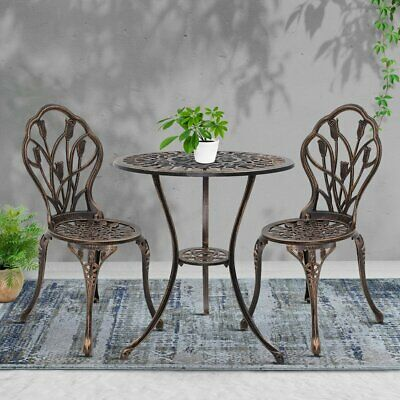 AU197.90 • Buy Gardeon 3 Piece Outdoor Setting Chairs Table Bistro Set Patio Cast Aluminum