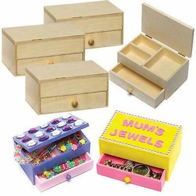 Baker Ross Wooden Jewellery Boxes Craft Project — Ideal For Kids' Arts And...  • 9.02£