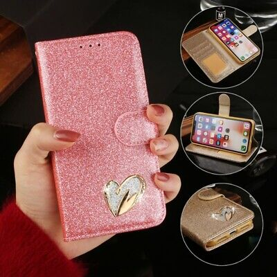 AU17.99 • Buy For IPhone 11 Pro Max XS 6 7 8 Plus Bling Glitter Leather Flip Wallet Case Cover