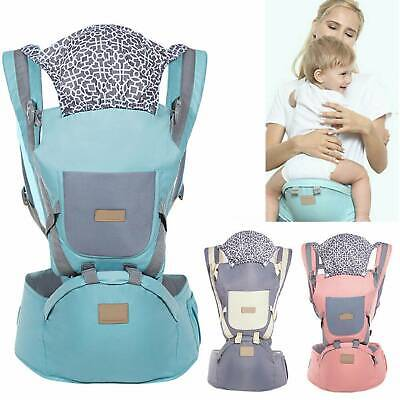 Ergonomic Infant Baby Carrier With Hip Seat Stool Adjustable Wrap Sling Backpack • 14.79£