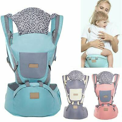 Ergonomic Infant Baby Carrier With Hip Seat Stool Adjustable Wrap Sling Backpack • 14.59£