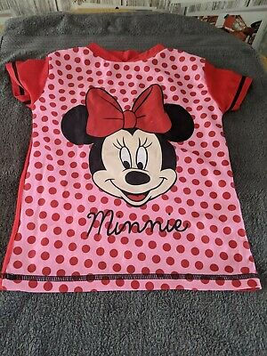 Girls UV Sun Protection Swimming Top~Pink/Red/Minnie Mouse~Age 5-6 • 2.50£
