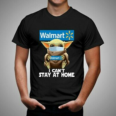 $15.49 • Buy Baby Yoda Hug Walmart I Can't Stay At Home 19 T Black T Shirt Unisex Size S-5XL