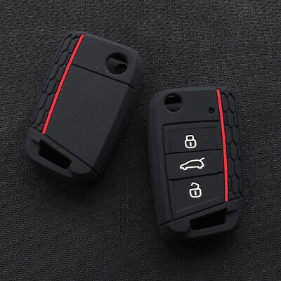 $4.96 • Buy Fit VW Tiguan Arteon Filp 3 Buttons Smart Remote Key Fob Silicone Case Cover