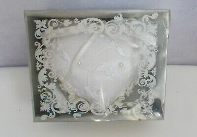 Romantic  Ceremony Heart Satin Lace Ring Bearer Pillow Cushion Gift • 3.50£