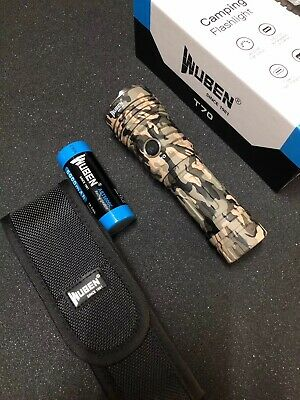 AU138.95 • Buy WUBEN T70 XHP70.2 Camouflage Flashlight 4200 Lumens Type-C Quick Charger