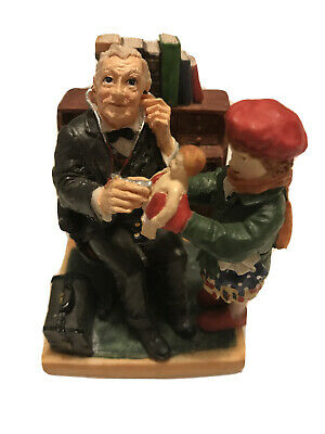 $ CDN12.42 • Buy Norman Rockwell ~ Doctor And Doll ~ Figurine ~ Dave Grossman Creations ~ 1998