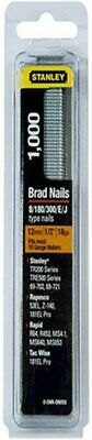 STANLEY 12mm Brad Nails (0-SWK-BN050) Pack Of 1000 Fits Most 18 Gauge Nailers • 4.99£