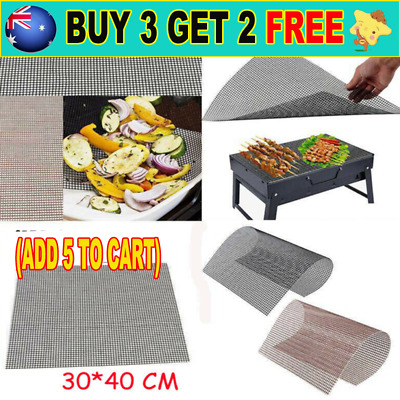 AU10.99 • Buy BBQ Grill Mesh Non-Stick Mat Reusable Sheet Resistant Cooking Baking Barbecue G