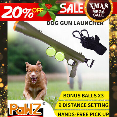 AU21.99 • Buy Dog Tennis Ball Launcher Gun Large Automatic Interactive Pet Throw Balls Outdoor