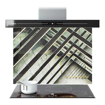 Splashback Glass Kitchen Tile Cooker Panel ANY SIZE Abstract Stairs Mirros 9109 • 187.90£