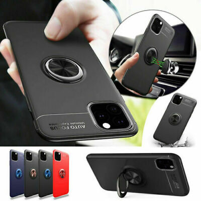 AU13.69 • Buy Magnetic Case Cover With Metal Ring Holder For IPhone 11 Pro Max XS XR 7 8+ Plus