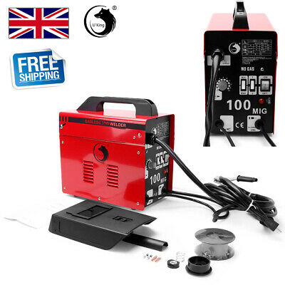 Gasless MIG 100 Welder Non Live Torch Amp Flux Wire Welding Machine No Gas 230V • 80.99£