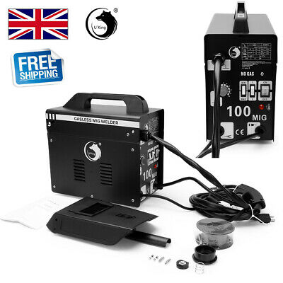 U'King Gasless MIG-100 Welder Flux Welding Machine No Gas 230V Various Metals UK • 80.99£
