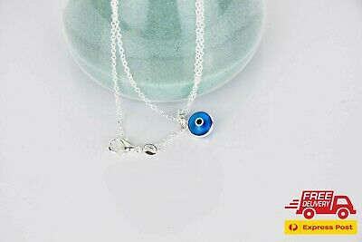 £10.91 • Buy Quality 925K Silver Pendant Turkish Greek Evil Eye Pendant Necklace Plated Chain