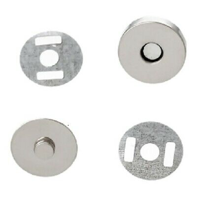 14mm Diameter Silver Magnetic Snap Button Clasp For Bags, Fastener, Round B20766 • 0.99£