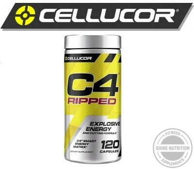 AU54 • Buy C4 Ripped Pre Workout & Thermogenic 120 Capsules