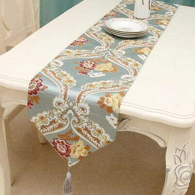 AU17.61 • Buy European Dining Table Runner Embroidered Flower Cutwork Home Decor Cover T