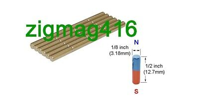 $ CDN7.50 • Buy D1/8  X 1/2  Thick, N52, Rare Earth, Neodymium Cylinder Magnet - Pack Of 25