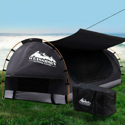 AU248.90 • Buy Weisshorn Swag King Single Camping Swags Canvas Free Standing Dome Tent Grey