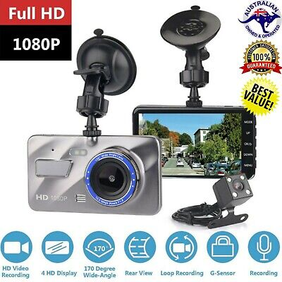 AU45.95 • Buy Dual Lense Dash Cam 1080P HD Front And Rear Car Recorder W/ IPS Screen 2 Channel