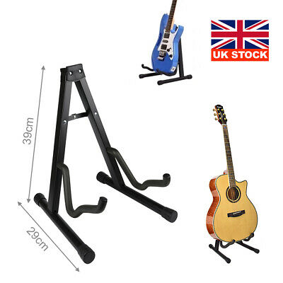 £7.99 • Buy Folding Guitar Stand Foldable A-frame Music Floor Electric Acoustic Bass New