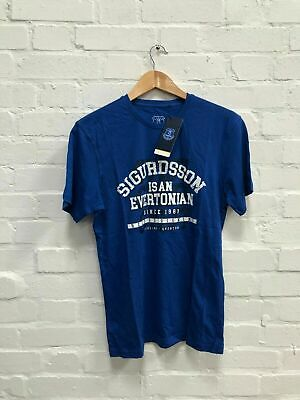 Everton FC Men's Club Sigurdsson T-Shirt - Blue - New • 7.99£