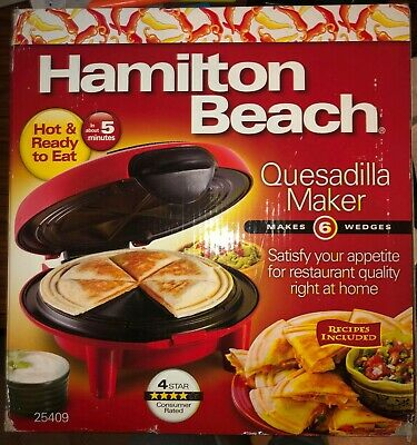 $39.47 • Buy Quesadilla Maker Hamilton Beach 25409 Easy Use Kitchen Red