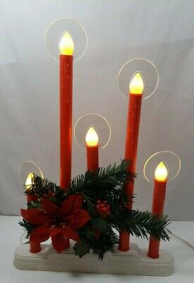 $ CDN100 • Buy Vintage Noma 5 LIGHT Christmas Candelabra W/ Halo Reflectors And Greenery In Box